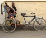 A napping rickshaw wallah