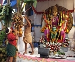 Building a shrine to Attukal Devi and Kali