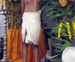 Brahmin priest with the sacred flame