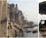 Triptych: River bank scenes