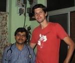 Iain and Dr Shastri