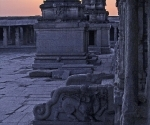 An abondoned Krishna temple at sunset