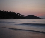 Koh Mak's northern beach after sunset