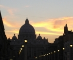 st-peters-basilica-seen-down-via-della-conciliazione-at-sunset