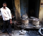 A chai wallah and his doorway