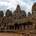 A few of the many face towers at the Bayon
