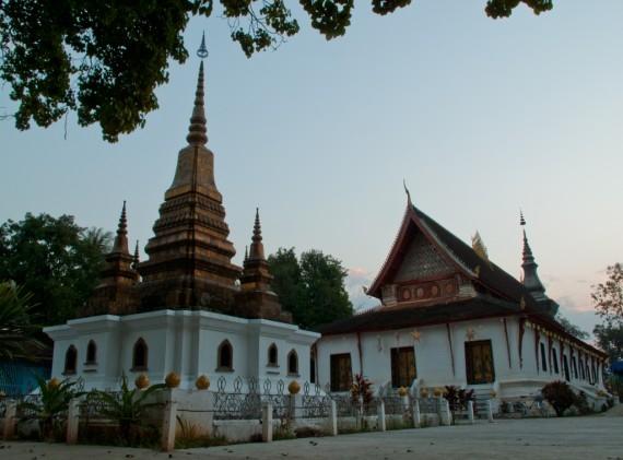 Dusk at Wat That Luang in Luang Prabang
