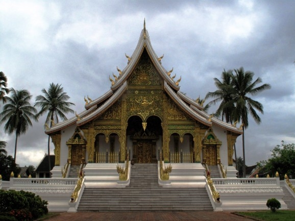The Haw Pha Bang in Luang Prabang's royal compound. The temple was built to house the Sri Lankan statue of Buddha from which the town takes its name.