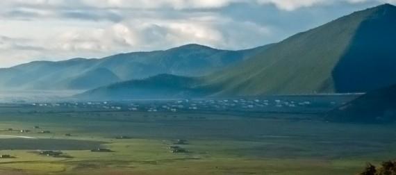 Shangri-La's valley at dawn