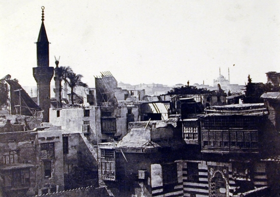 A photograph of Cairo's skyline from Maxime Du Camp's Egypte, Nubie, Palestine, Syrie