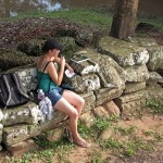 Taking notes at Banteay Kdei