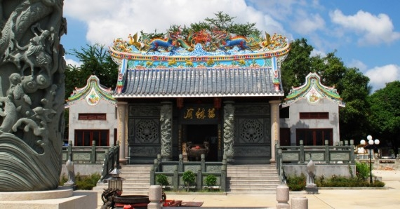 The new Fude Temple in Vientiane