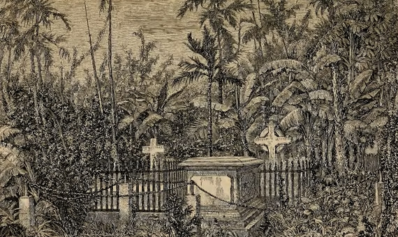 Caption in journal: Cemetery at Bangkok