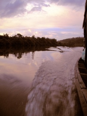 Sunset on a Southeast Asian river
