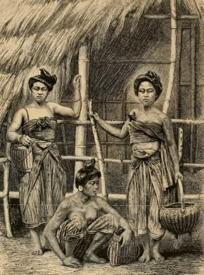 Caption in Mouhot's journal: Women of Laos